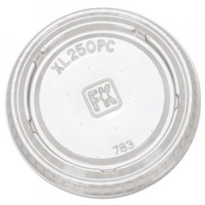 Fabri-Kal Portion Cup Lids, Fits 1.5-2.5oz Cups, Clear FABXL250PC 9505083