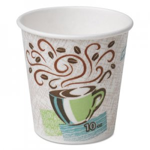 Dixie PerfecTouch Paper Hot Cups, 10 oz, Coffee Haze, 1000/Carton DXE92959 92959