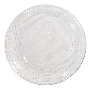 Dixie Cold Drink Cup Lids, Fits 16-24 oz Plastic Cold Cups, Clear,100/Pack, 10 Packs/Carton DXECL1624 CL1624