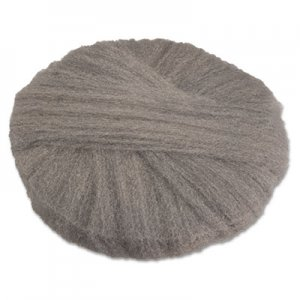 """GMT Radial Steel Wool Pads, Grade 1 (Med): Cleaning & Dry Scrubbing, 17"""", GY, 12/CT GMA120171 120171"""