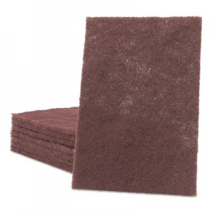Scotch-Brite PROFESSIONAL General Purpose Hand Pad, 6 x 9, Maroon, 20 BX, 3 BX/CT MMM04029 7447
