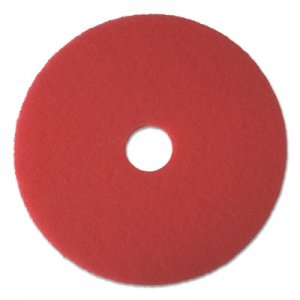 "Boardwalk Buffing Floor Pads, 22"" Diameter, Red, 5/Carton BWK4022RED"