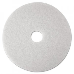 "3M Super Polish Floor Pads 4100, 27"" Diameter, White, 5/Carton MMM20313 4100"