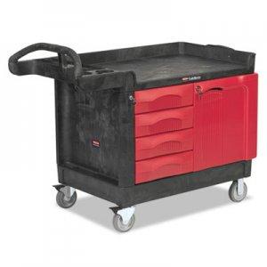 Rubbermaid Commercial TradeMaster Cart, 750-lb Cap, One-Shelf, 26-1/4w x 49d x 38h, Black RCP453388BLA FG453388BLA