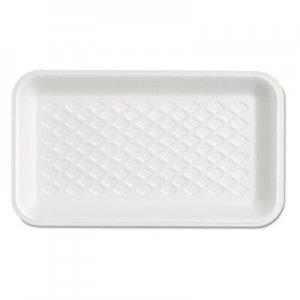 Genpak Supermarket Tray, Foam, White, 8-1/4x4-3/4x5/8, 125/Bag GNPW1017S W1017S---