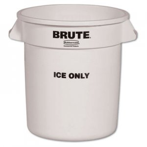 Rubbermaid Commercial Brute Ice-Only Container, 10gal, White RCP9F86WHI FG9F8600WHT