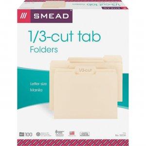 Smead 1/3 Cut Tab Manila File Folders 10330CT SMD10330CT