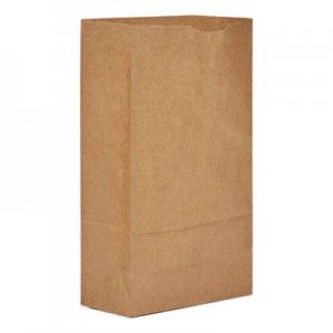 """Genpak Grocery Paper Bags, 6"""" x 11.06"""", Kraft, 2,000/Carton BAGGK6 GK6"""