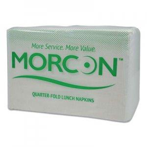 "Morcon Paper Lunch Napkin, 1/4 Fold, 1 Ply, 11"" x 13"", White, 6000/Carton MOR1250 MOR 1250"