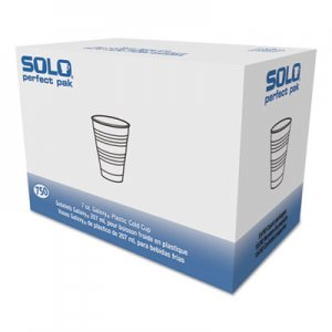 Dart Conex Galaxy Polystyrene Plastic Cold Cups, 7 oz, Clear, 100/Pack DCCY7PK Y7 PK