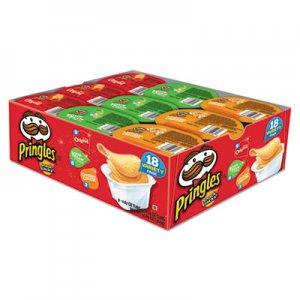 Pringles Potato Chips, Variety Pack, 0.74 oz Canister, 18/Box KEB18251 3800018251