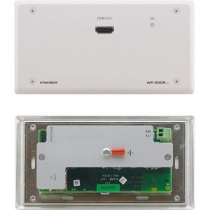 Kramer 4K60 4:2:0 HDMI Wall-Plate Receiver with RS-232 & IR over Extended-Reach HDBaseT WP-580RXR