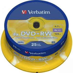 Verbatim 4x DVD+RW Media 43489