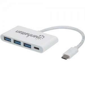 Manhattan SuperSpeed USB-C 3.1 Gen 1 Type-C Hub with Power Delivery 163552