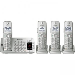 Panasonic Link2Cell Bluetooth Cordless Phone with Large Keypad - 4 Handsets KX-TGE474S