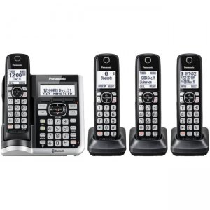 Panasonic Link2Cell Bluetooth Cordless Phone with Answering Machine - 4 Handsets KX-TGF574S KX-TGF57