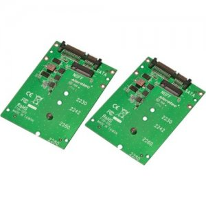 Aleratec M.2 NGFF SATA SSD to SATA Converter 2-Pack 350145