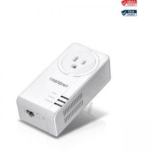 TRENDnet Powerline 1300 AV2 Adapter With Built-in Outlet TPL-423E