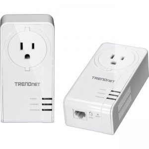 TRENDnet Powerline 1300 AV2 Adapter Kit with Built-in Outlet TPL-423E2K