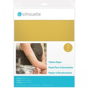 Silhouette Temporary Tattoo Paper - Gold MEDIA-TATTOO-GLD