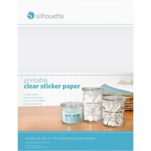 Silhouette Sticker Paper - Clear MEDIA-CLR-ADH-3T