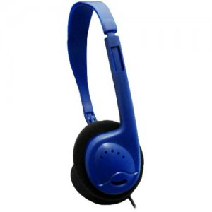 Avid Education AE-711 Headphone with Adjustable Headband and 3.5mm Plug, Blue 1EDU711BLUE