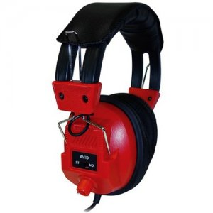 Avid Education AE-808 Switchable Stereo/Mono Headphone with Voume Control, Red 1EDUAE808RED