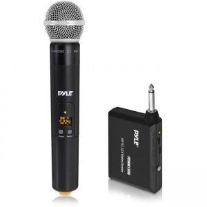 Pyle Wireless Microphone System, Handheld Mic with 1/4'' Transmitter PDWM13UH