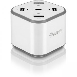 Aluratek USB Charging Station with Type-C & QuickCharge 3.0 AUCSQCF