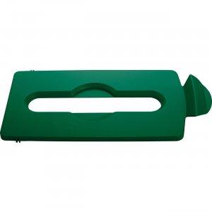 Rubbermaid Commercial Slim Jim Lid Green Paper Slot 2007886 RCP2007886