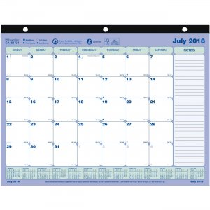 Rediform Academic Monthly Desk Pad CA181721 REDCA181721