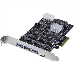 StarTech.com 4-Port USB 3.1 PCIe Card - 3x USB-A and 1x USB-C - 2x Dedicated Channels PEXUS313AC2V