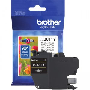 Brother Standard Yield Yellow Ink Cartridge (approx. 200 pages) LC3011Y