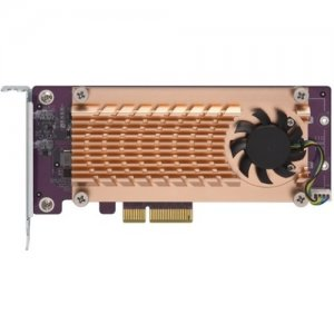 QNAP Dual M.2 22110/2280 PCIe SSD Expansion Card QM2-2P-244A