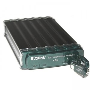 Buslink CipherShield AES Encrypted External Drive CSE-14T-SU3