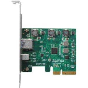 HighPoint PCI-Express 3.0 Host Interface, Dual USB 3.1 Gen 2.0 Ports RU1322B 1322B