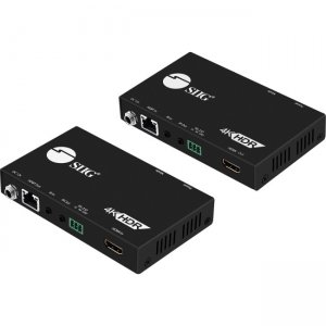 SIIG 4K HDR HDMI 2.0 HDBaseT Extender Over Single Cat5e/6 with RS-232 & IR - 100m CE-H23311-S1