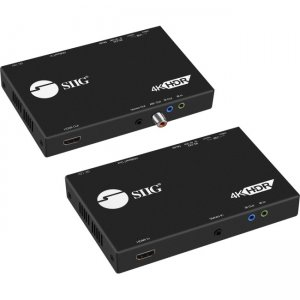 SIIG 4K HDR HDMI 2.0 & USB 2.0 Extender Over HDBaseT with RS-232 & IR CE-H23411-S1