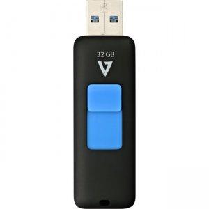 V7 32GB Slider USB 3.0 Flash Drive VF332GAX-BLK-3N