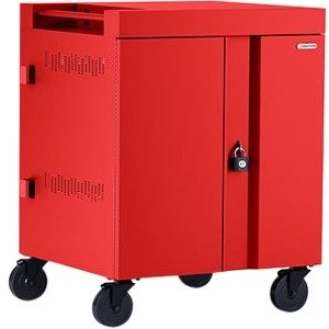 Bretford CUBE Cart 36, AC Charging, Red Paint TVC36PAC-RED