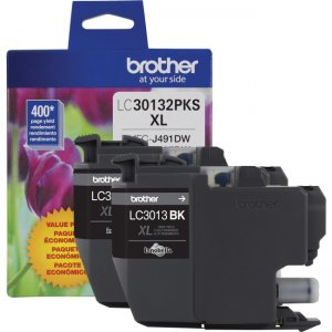 Brother High Yield 2 Pack of Black Ink LC30132PKS