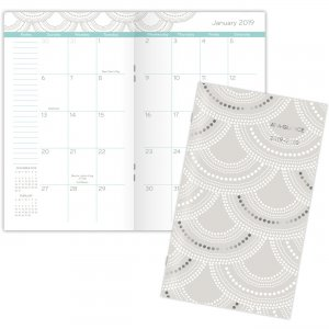 At-A-Glance Serene Scallops 2-year Pocket Planner 5138S021 AAG5138S021