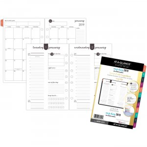 At-A-Glance Harmony 1 Page Per Daily Monthly Planner Refill 60994311 AAG60994311