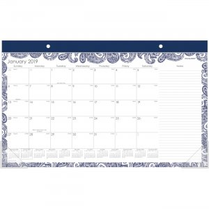 At-A-Glance Paige Monthly Desk Pad Calendar D1141705 AAGD1141705