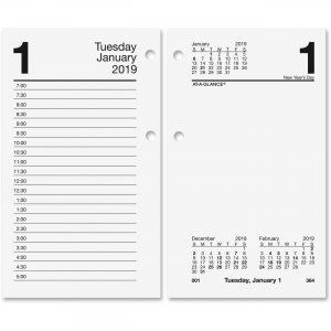 At-A-Glance Loose-leaf Daily Desk Calendar Refill E7175019 AAGE7175019