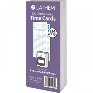Lathem Model 400E Double Sided Time Cards E14100 LTHE14100