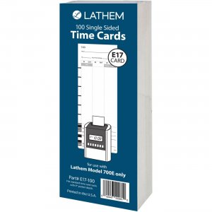 Lathem Model 700E Clock Single Sided Time Cards E17100 LTHE17100