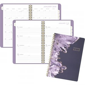 Mead Cambridge Crystal Weekly/Monthly Planner 5129200 MEA5129200