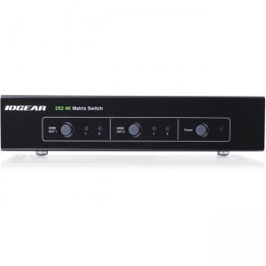 Iogear 2x2 HDMI Matrix Switch with 4K and RS-232 (TAA) GHMS8422