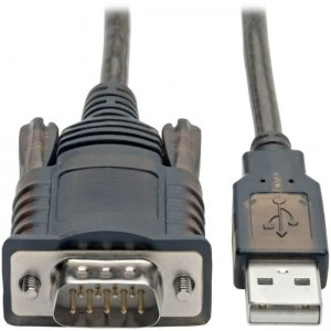 Tripp Lite RS232 to USB Adapter Cable with COM Retention (USB-A to DB9 M/M), FTDI, 5 ft U209